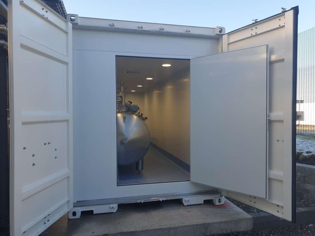 ACTINI Decontamination contained lab